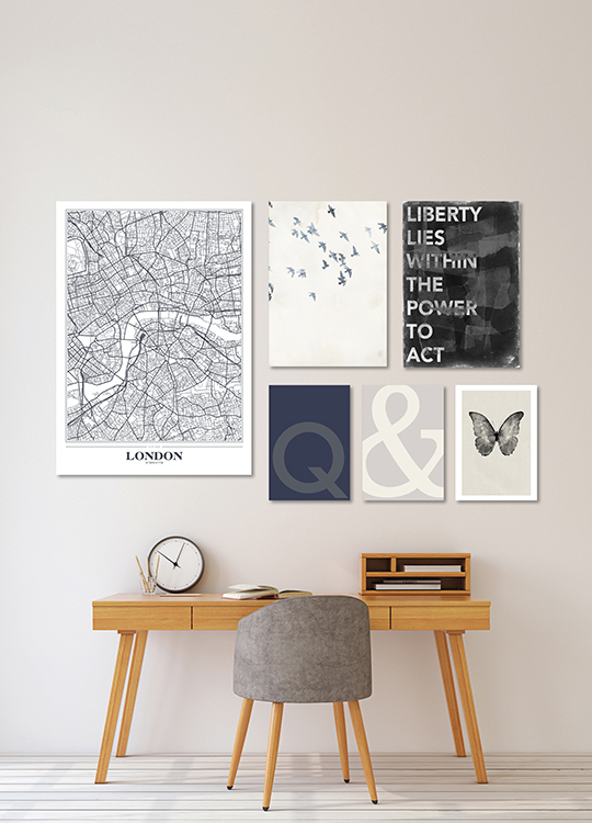 LONDON WHITE POSTER, artroom, Artroom, nettgalleri, postere, bilder, rammer, plakater