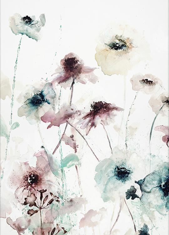 flower dance 1 poster, art room, Artroom, nettgalleri, postere, bilder, rammer, plakater