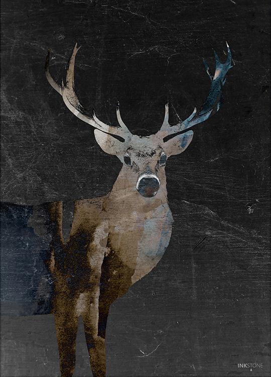 DEERLY DARK POSTER, artroom, Artroom, nettgalleri, postere, bilder, rammer, plakater