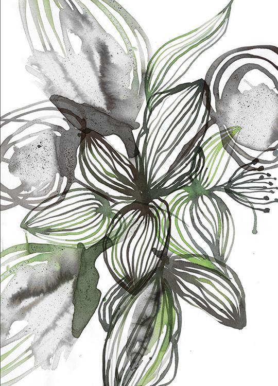 FLOWER LINE 2 POSTER, artroom, Artroom, nettgalleri, postere, bilder, rammer, plakater