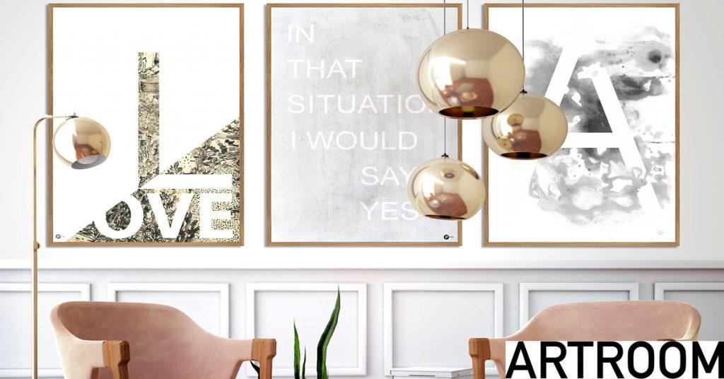 dekorere hjem med postere