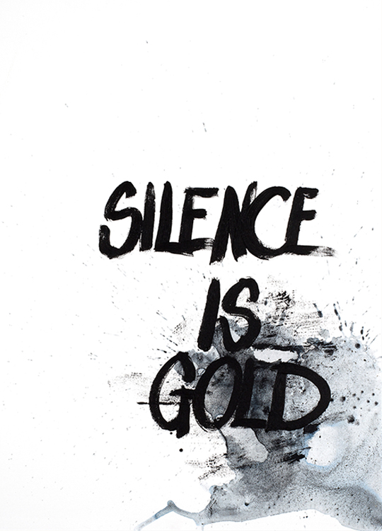 SILENCE IS GOLD POSTER, artroom, Artroom, nettgalleri, postere, bilder, rammer, plakater