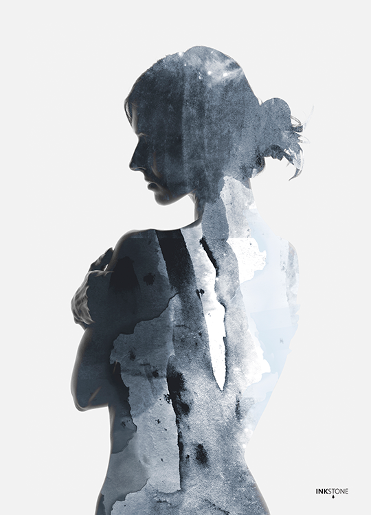 woman in blue poster, artroom