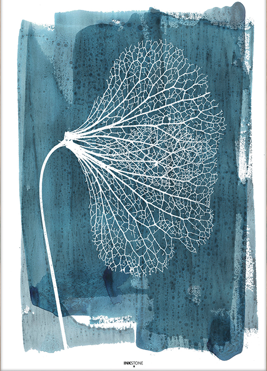 white ginkgo poster, artroom