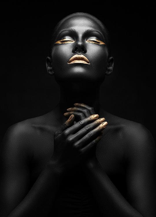 gold lips poster, artroom