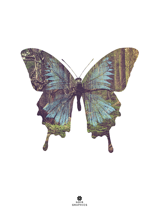 butterfly poster, artroom