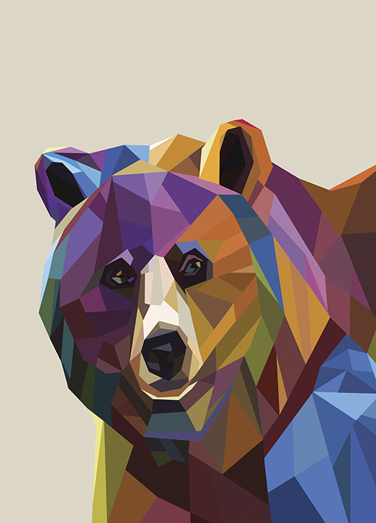 GRAPHIC BEAR POSTER