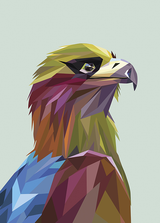 GRAPHIC EAGLE POSTER