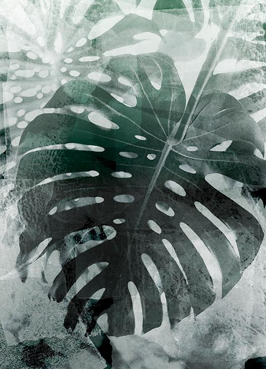 large leaf poster, artroom