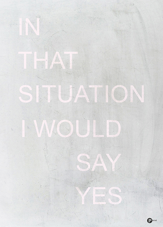 in that situation poster, artroom