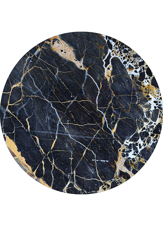 CIRCLE ART BLACK MARBLE, artroom.no