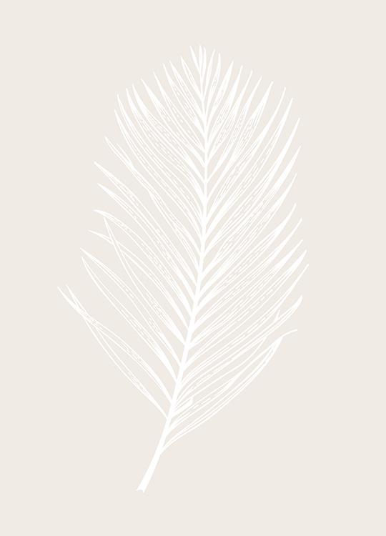 WHITE LEAF POSTER