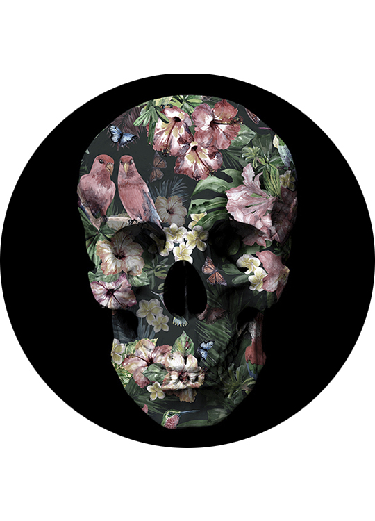 TROPIC SCULL CIRCLE ART