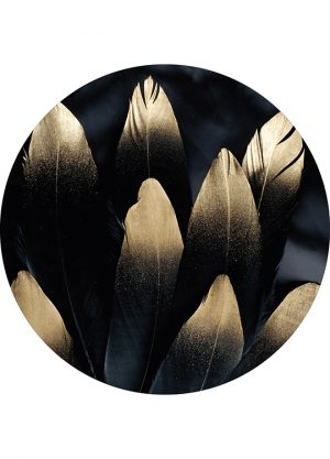 GOLDEN FEATHER CIRCLE ART, artroom.no