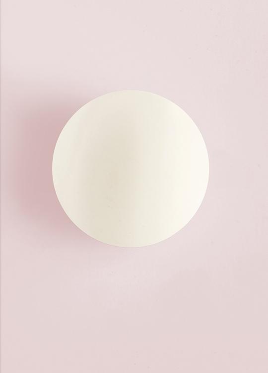 WHITE CIRCLE PINK POSTER