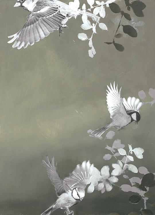 bird 4 poster, artroom.no