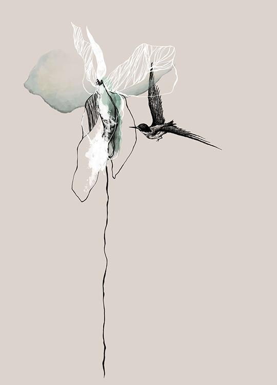 flower poster, artroom.no