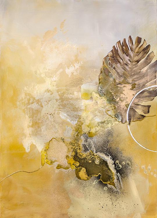 golden leaf poster, artroom.no