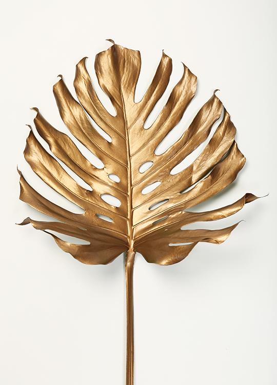 monstrea gold leaf poster, artroom.no