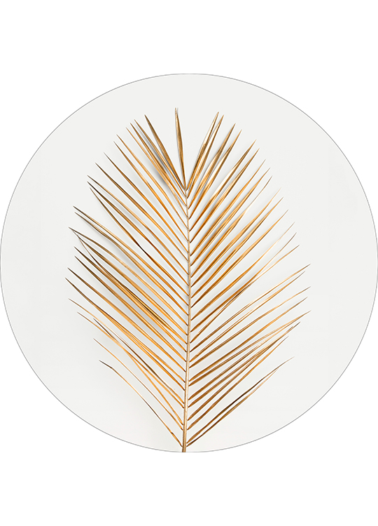 PALM LEAF GOLD CIRCLE ART