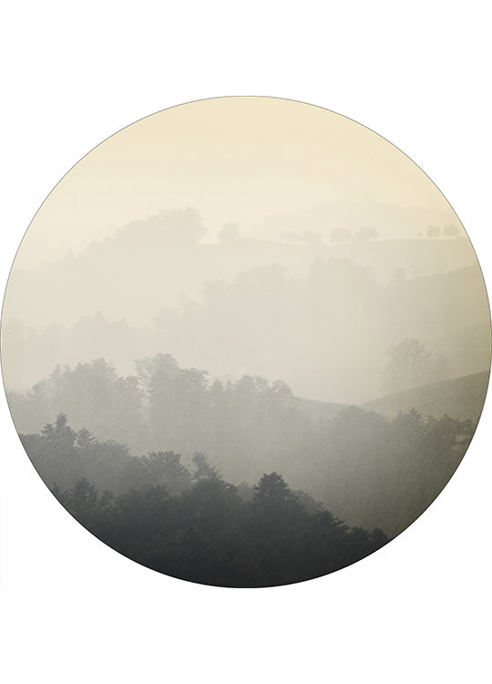 FOGGY YELLOW CIRCLE ART