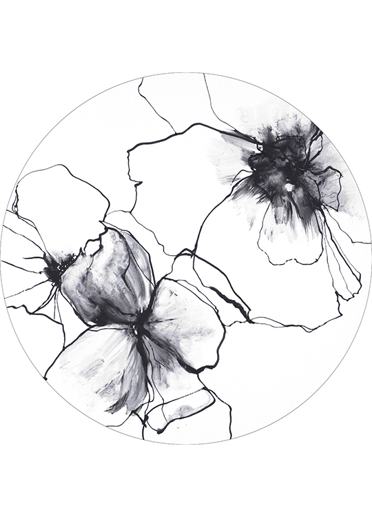 FLOWER LINE 2 CIRCLE ART