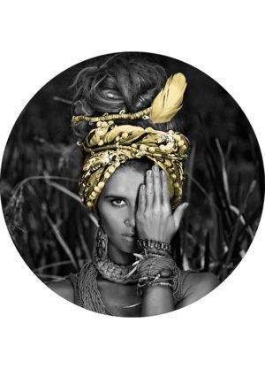 IN THE BUSH GOLD CIRCLE ART