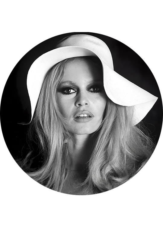 BRIGITTE BARDOT 3 CIRCLE ART, artroom.no