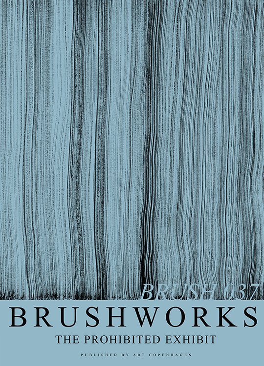 BRUSHWORK 037 POSTER, artroom.no