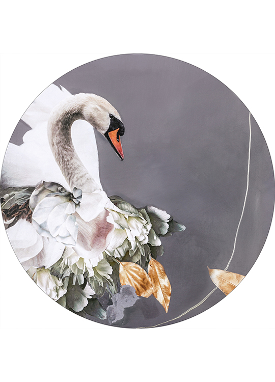 SWAN GOLD 1 CIRCLE ART, artroom.no